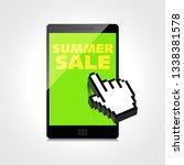 summer sale words. markdown ... | Shutterstock .eps vector #1338381578