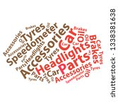 text cloud. car wordcloud.... | Shutterstock .eps vector #1338381638