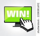 win word display on high... | Shutterstock .eps vector #1338381692