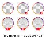 social media icon avatar frame. ...   Shutterstock .eps vector #1338398495
