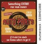 car repair service retro poster ... | Shutterstock .eps vector #1338401888