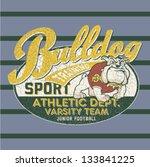 bulldog football team   artwork ... | Shutterstock .eps vector #133841225