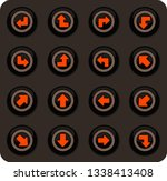 arrows color vector icons on...