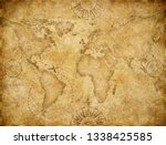 old world map based on image... | Shutterstock . vector #1338425585