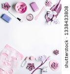 modern skin care cosmetics... | Shutterstock . vector #1338433808