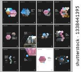 minimal brochure templates with ... | Shutterstock .eps vector #1338441395