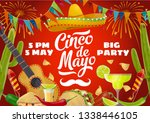 cinco de mayo fiesta party food ... | Shutterstock .eps vector #1338446105