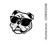 english bulldog wearing... | Shutterstock .eps vector #1338452048