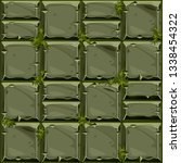 seamless texture of green stone ...