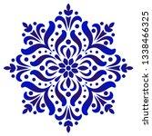 floral round pattern  circular...   Shutterstock .eps vector #1338466325