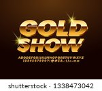 vector chic sign gold show.... | Shutterstock .eps vector #1338473042