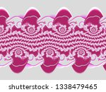 a hand drawing pattern made of... | Shutterstock . vector #1338479465