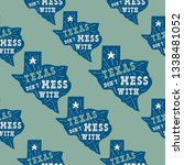 texas state pattern with badges ... | Shutterstock .eps vector #1338481052