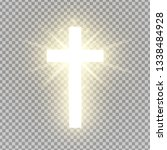 shining cross isolated on... | Shutterstock .eps vector #1338484928
