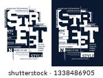 street typography illustration... | Shutterstock .eps vector #1338486905