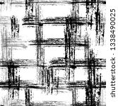 checkered seamless halftone... | Shutterstock .eps vector #1338490025