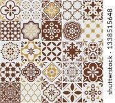 lisbon azulejos tile vector...   Shutterstock .eps vector #1338515648