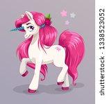 unicorn princess  vector... | Shutterstock .eps vector #1338523052