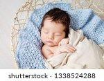 beautiful little newborn baby 2 ...   Shutterstock . vector #1338524288