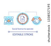 social licence to operate... | Shutterstock .eps vector #1338527195