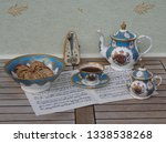 english teacup with saucer ... | Shutterstock . vector #1338538268