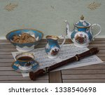 english teacup with saucer ... | Shutterstock . vector #1338540698