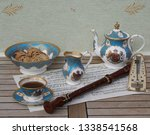english teacup with saucer ... | Shutterstock . vector #1338541568