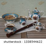 english teacup with saucer ... | Shutterstock . vector #1338544622
