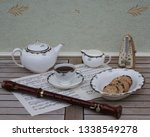 english teacup with saucer ... | Shutterstock . vector #1338549278