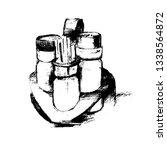 salt shaker  pepper shaker and... | Shutterstock .eps vector #1338564872
