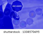 iso 45001 based on occupational ... | Shutterstock . vector #1338570695