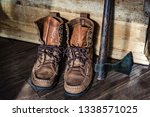 leather boots or moccasins | Shutterstock . vector #1338571025
