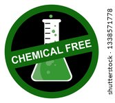 chemical free sign | Shutterstock .eps vector #1338571778