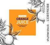 orange label vector drawing....   Shutterstock .eps vector #1338598388