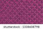 pink woolen texture... | Shutterstock . vector #1338608798
