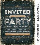 vintage invitation sign on...   Shutterstock .eps vector #1338609518