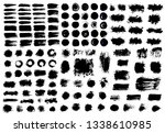 brush strokes text boxes.... | Shutterstock .eps vector #1338610985