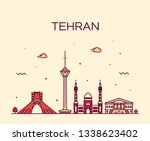 tehran skyline  iran. trendy... | Shutterstock .eps vector #1338623402