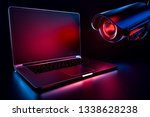 computer observed by hostile... | Shutterstock . vector #1338628238