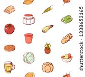 food images. background for... | Shutterstock .eps vector #1338653165