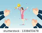 business team celebrating | Shutterstock .eps vector #1338653678