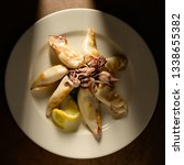 grilled calamari  squid  with... | Shutterstock . vector #1338655382