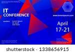 conference announcement design... | Shutterstock .eps vector #1338656915