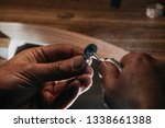 close up of a hand of a...   Shutterstock . vector #1338661388