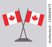 flag of canada drawing by...   Shutterstock .eps vector #1338683675