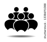 people vector icon in flat... | Shutterstock .eps vector #1338691088