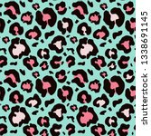 leopard seamless pattern.... | Shutterstock .eps vector #1338691145