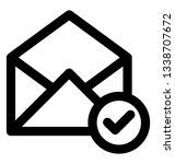 verified mail icon  line design. | Shutterstock .eps vector #1338707672