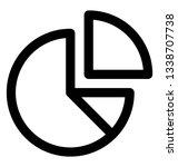 line design  pie chart icon. | Shutterstock .eps vector #1338707738