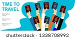 traveling  business trip  hand... | Shutterstock .eps vector #1338708992